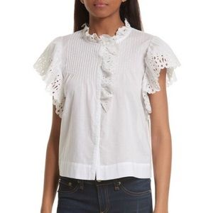 Rebecca Taylor Nouveau Eyelet Cotton Top